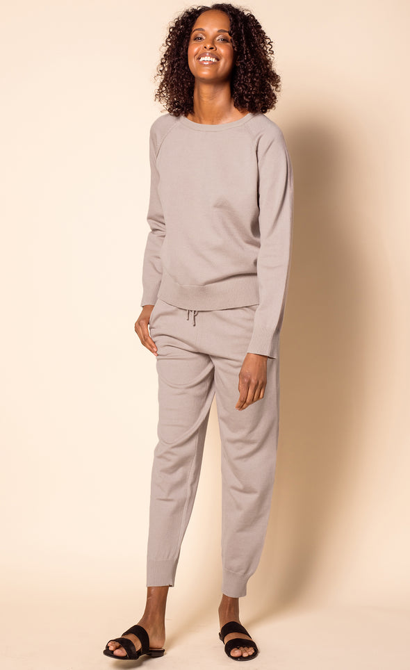 The Kye Pants Taupe - Pink Martini Collection