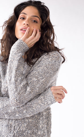 Anahita Sweater Light Grey - Pink Martini Collection