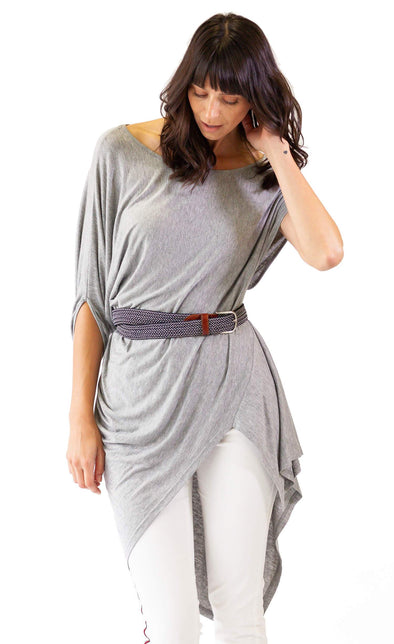 The Greek Top Grey - Pink Martini Collection