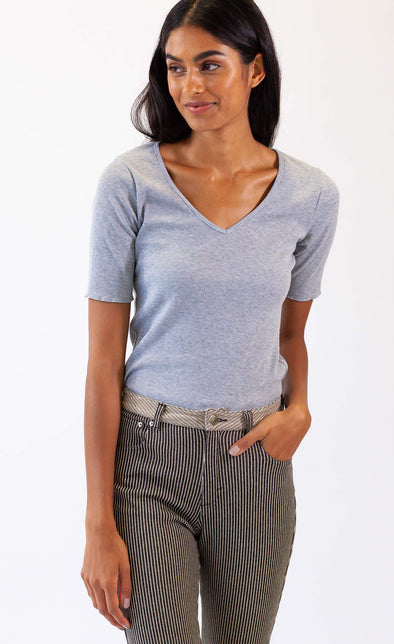 Jeanne Top in Grey - Pink Martini Collection