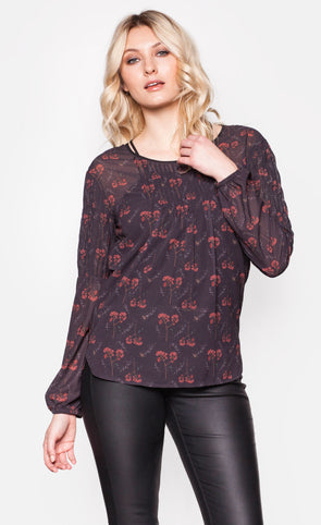 Merry Jane Top Black - Pink Martini Collection