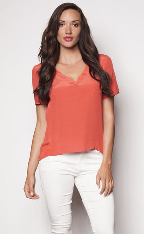Pure & Simple Top Orange