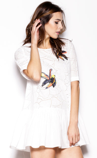 Fly Away Top White - Pink Martini Collection