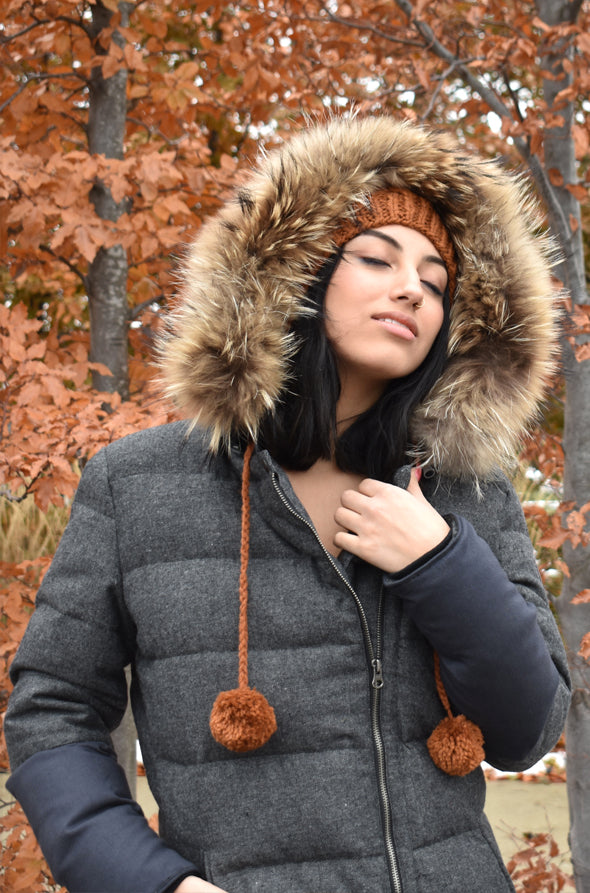 Down Jacket Grey - Pink Martini Collection
