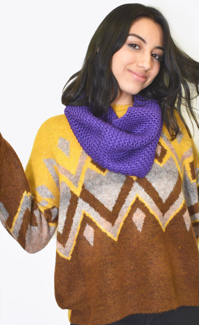The Backcountry Scarf Purple - Pink Martini Collection