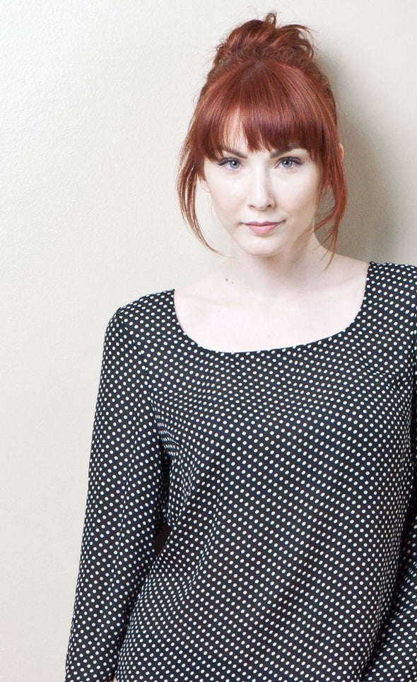 Dancing Dots Top Black - Pink Martini Collection