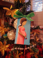 New Baby Mini Stretched Canvas Ornament