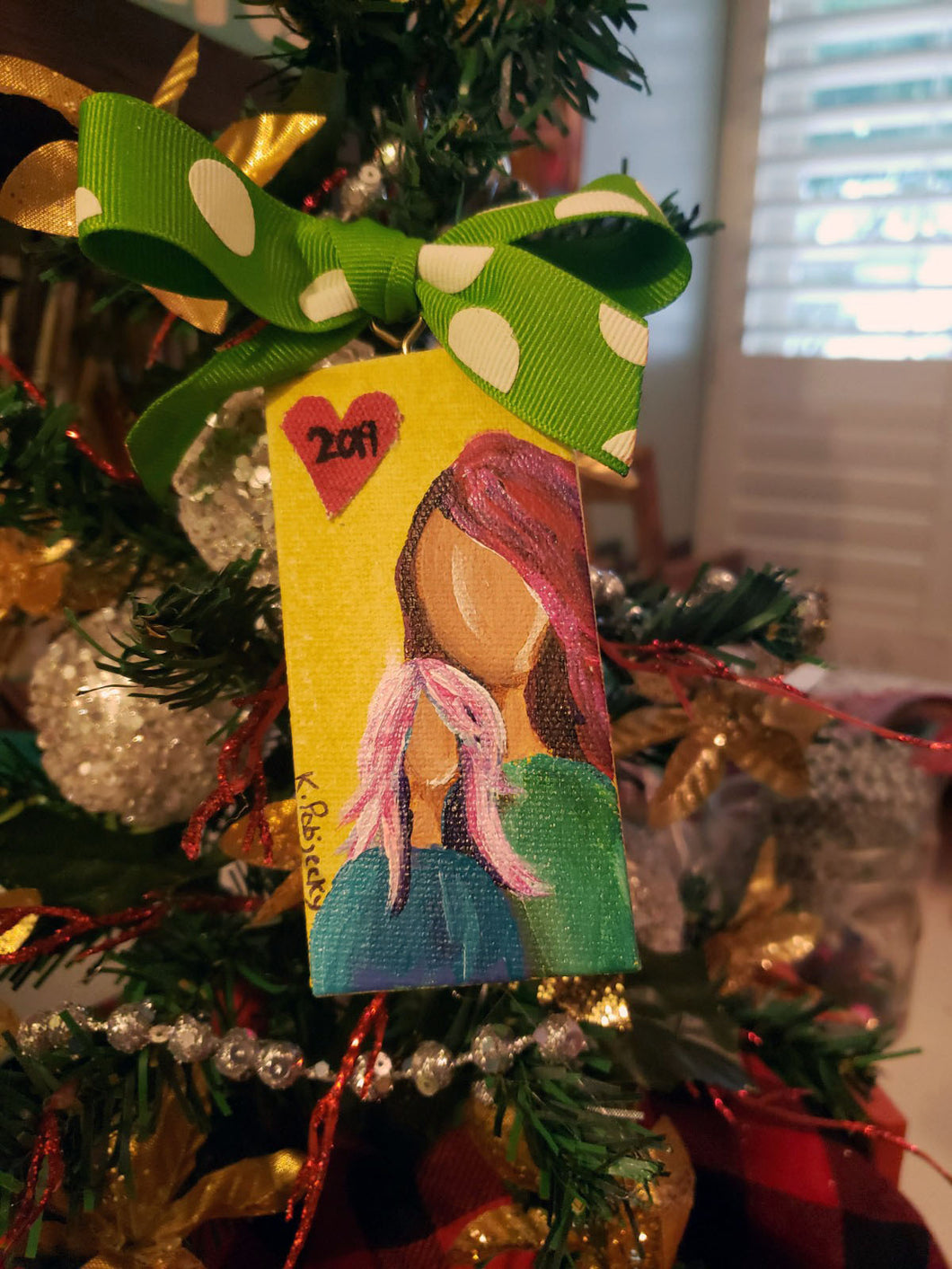Mommy & Me Mini Stretched Canvas Ornament