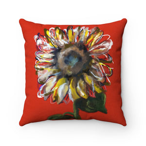 Sunflower Faux Suede Pillow