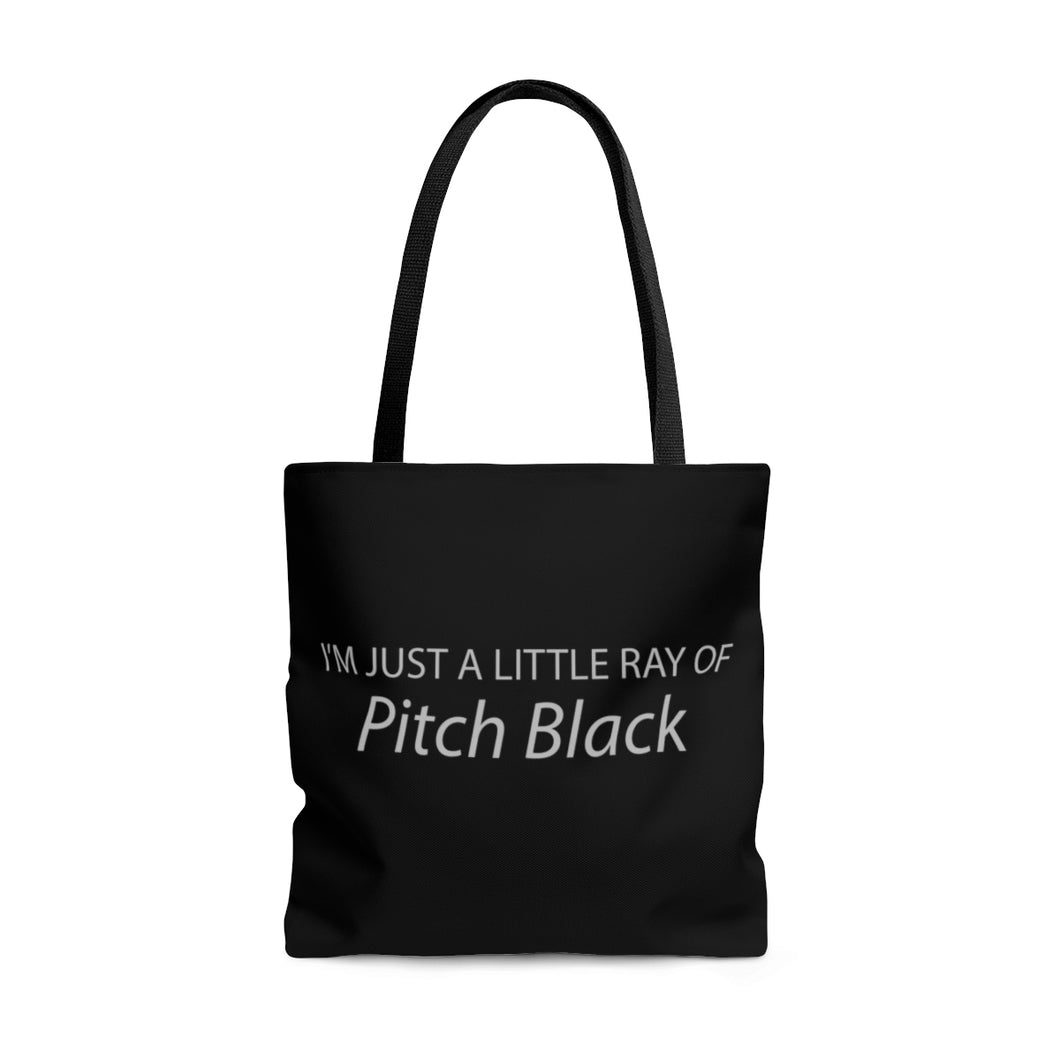 Pitch Black Tote Bag