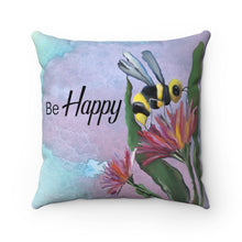 Bumblebee Faux Suede Pillow