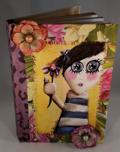 Big-eyed girl.  Medium Fine Art Book
