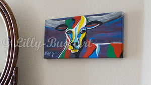 Dark Bull - Original Fine Art Painting
