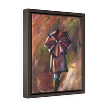Her Umbrella Framed Gallery Wrap Canvas