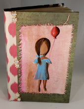Girl with her balloon. Medium Fine Art Book