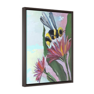 Bumblebee Vertical Framed Premium Gallery Wrap Canvas