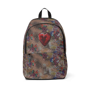 Heart Backpack with zipper
