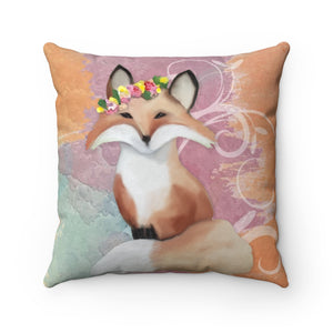 Fox Faux Suede Pillow