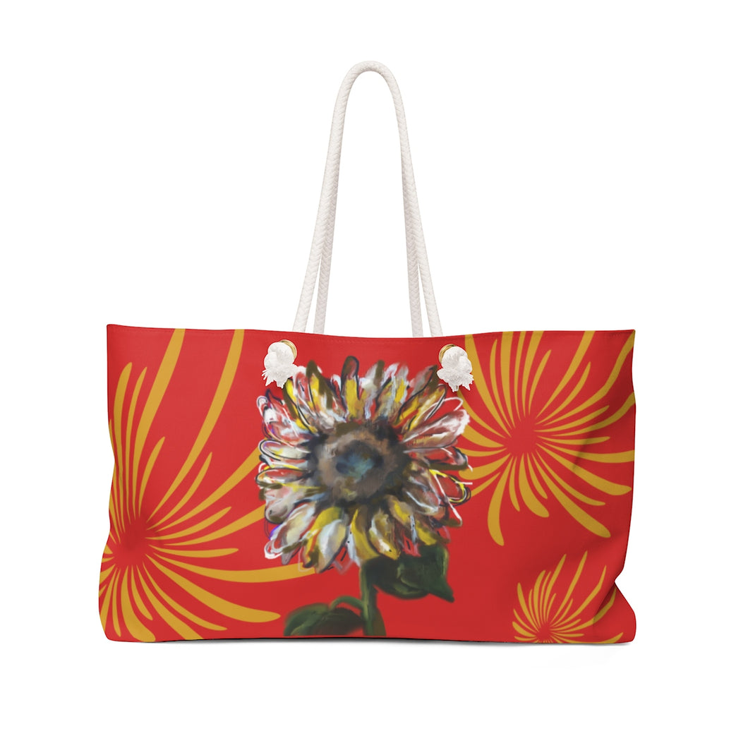 Sunflower (red) Weekender Bag