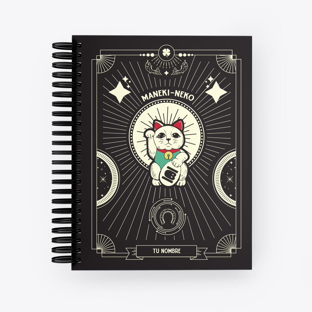 Lucky Notebook Maneki Neko