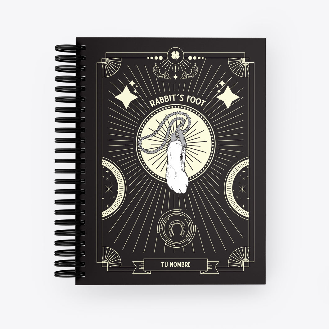 Lucky Notebook Rabbits Foot