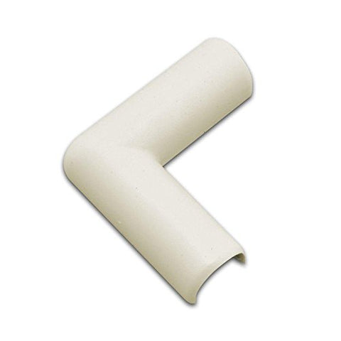 Legrand - Wiremold C6 Plastic Flat Elbow Cord Cover, Ivory