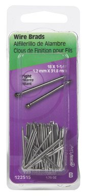 "Hillman Brad Nails 1-1/4 "" Bright Steel 18 Ga Card 1.75 Oz"