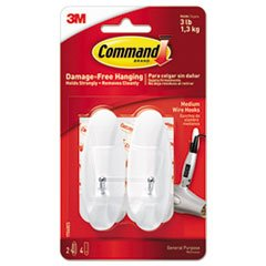 Command Strips 17068 Medium CommandTM Wire Hooks 2 Count