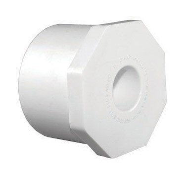 "Charlotte Pipe Reducing Bushing Sch 40 Pvc Spg X Fpt 1-1/2 "" X 1/2 "" White"
