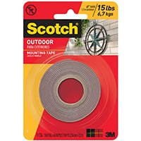 Scotch Exterior Mounting Tape Exterior 1 In. X 60 In.