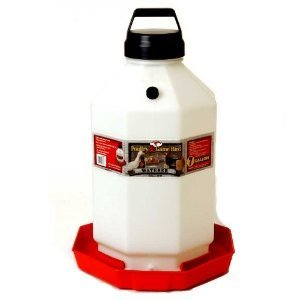 Pet Lodge PPF7 7 Gallon Red Plastic Poultry Waterer
