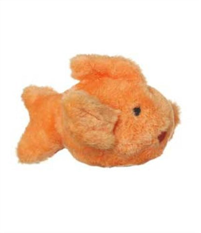 Multipet Look Who's Talking Plush Goldfish Dog Toy, 6.5-Inch