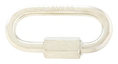 Apex Tool Group T7645116V 0.18 in. Quick Link Chain44; Silver - Pack of 20