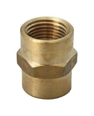 "Jmf Reducer Coupling 3/8 "" Fpt X 1/4 "" Fpt Yellow Brass Lead Free"