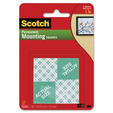 3M COMPANY MOUNTING SQUARES REMOVABLE 16 1IN (Set of 24)