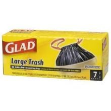 Glad 30 Gal. Extra Strong Drawstring Large Trash Bags 15 ct (Pack of 12)