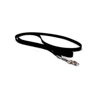 "Single Thick Nylon Lead with Snap in Black [Set of 2] Size: 0.38"" x 48"""