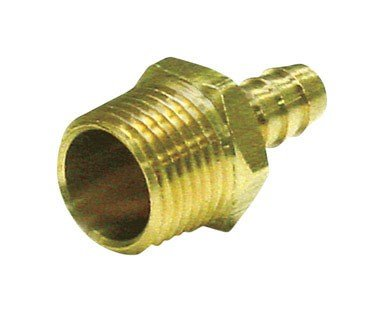 "Jmf Hose Barb 3/4 "" Barb X 1/2 "" Mpt Yellow Brass 150 Psi Lead Free"