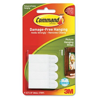 Command Products - Command - Picture Hanging Removable Interlocking Fasteners, 5/8 x 1-3/8, 4 Set/Pack - Sold As 1 Pack - Interlocking fasteners. - Holds on strongly. - Comes off cleanly. - No nail holes. -