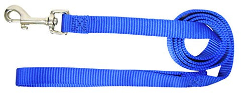 Hamilton Single Thick Deluxe Nylon Lead with Swivel Snap, 5/8-Inch by 6-Feet, Blue