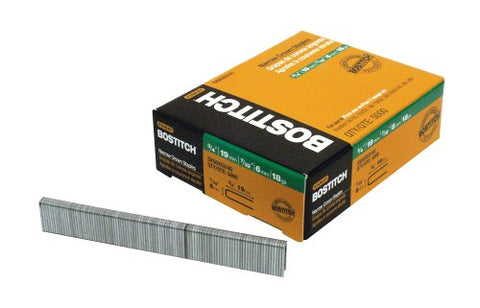 BOSTITCH SX50353/4G Crown Finish Staples, 5,000