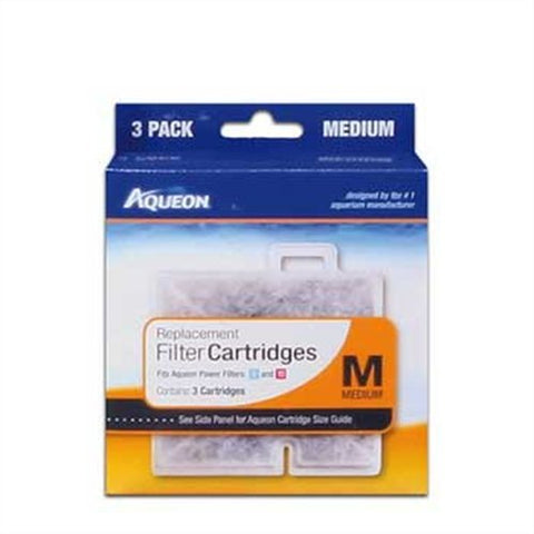 Aqueon QuietFlow Filter Cartridge, Medium, 3-Pack
