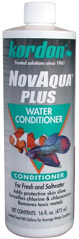 KORDON  #33156  Novaqua Plus- Water Conditioner for Aquarium, 16-Ounce