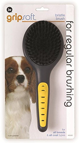 JW Pet Company GripSoft Bristle Brush Dog Brush