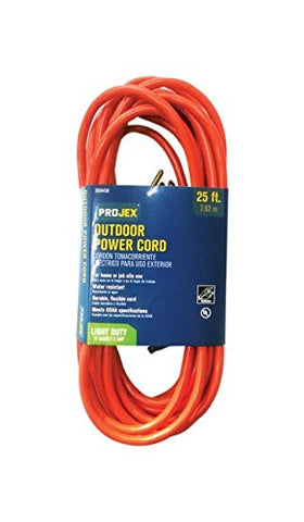 Projex Indoor and Outdoor Extension Cord 16/3 SJTW 25 ft. L Orange