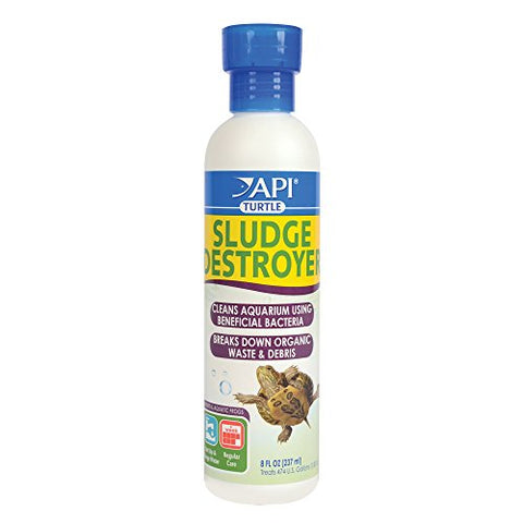 API TURTLE SLUDGE DESTROYER Aquarium Cleaner and Sludge Remover Treatment 8-Ounce Bottle