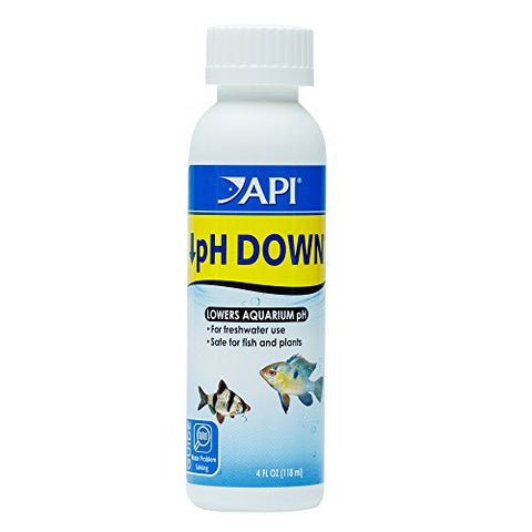 API pH DOWN Freshwater Aquarium Water pH Reducing Solution 4-Ounce Bottle