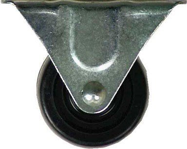 "Shepherd 9483 3"" Rubber Wheel Rigid Plate Casters"
