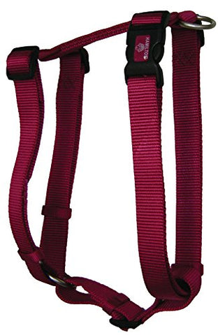 Hamilton B CFA LGRS Adjustable Comfort Dog Harness Fits Chest Size 30 to 40-Inch with Brushed Hardware Ring, Large, Raspberry