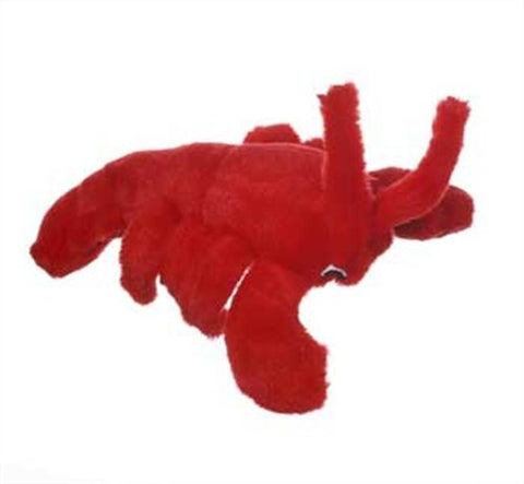 Multipet Look Who's Talking Plush Lobster Dog Toy, 7.5-Inch